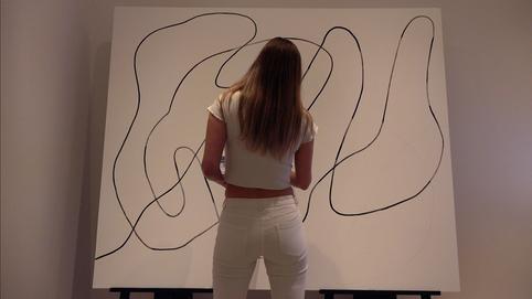 Working on Untitled XVI