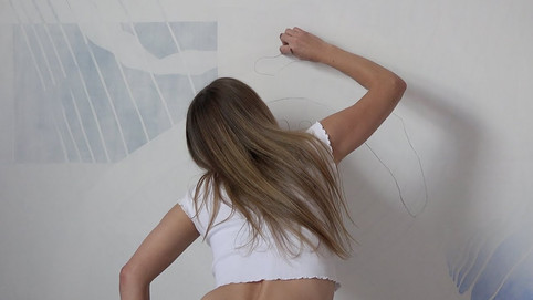 Nikita Coulombe painting Echoes