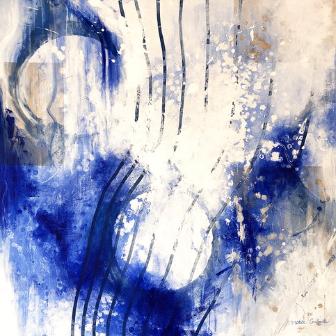 Primordial III, 36W x 36H inches, mixed media on canvas, SOLD