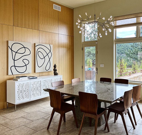 Wind Up and Untethered from the One-Liners series installed in a private residence in Boulder, Colorado. Photo courtesy of Bridget Bergmann.