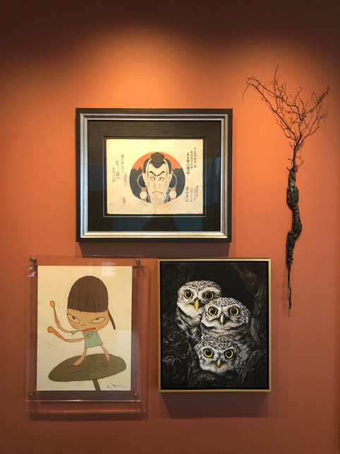 Three Little Owls installed in a private residence in Dallas, Texas.