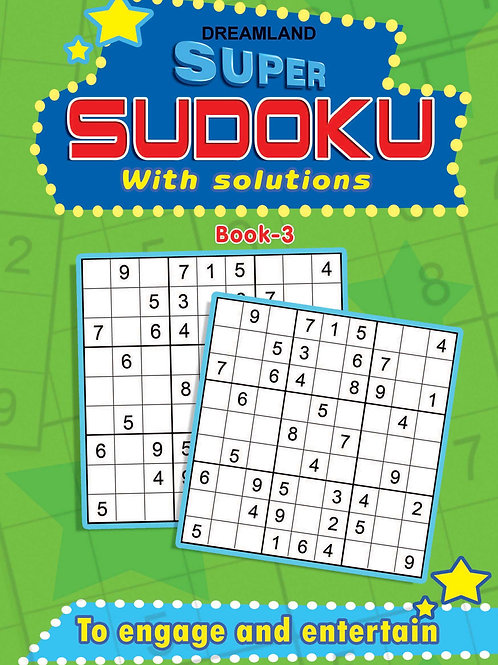Super Sudoku With Solutions Book 3