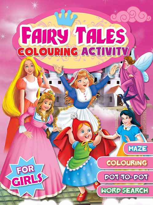 Fairy Tales Colouring Activity- For Girls