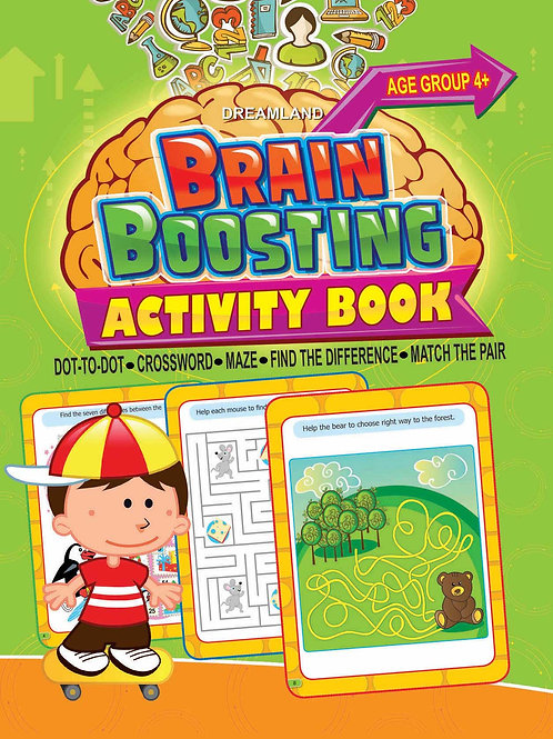 Brain Boosting Activity Book- Age 4+