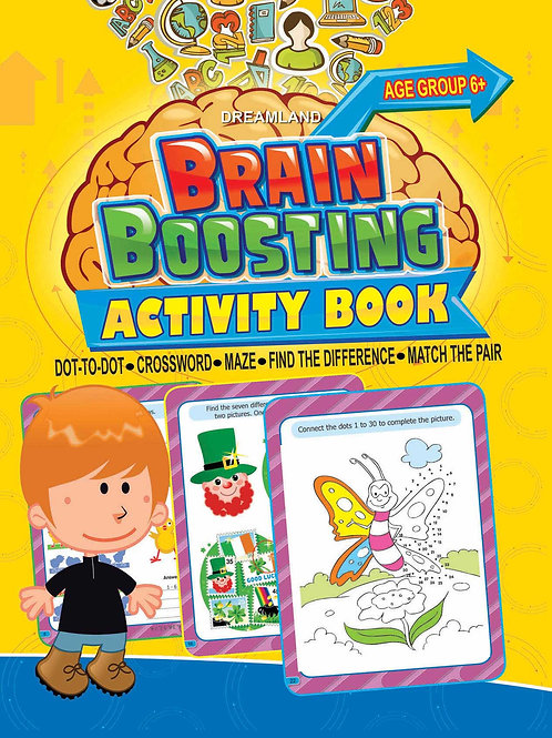 Brain Boosting Activity Book- Age 6+