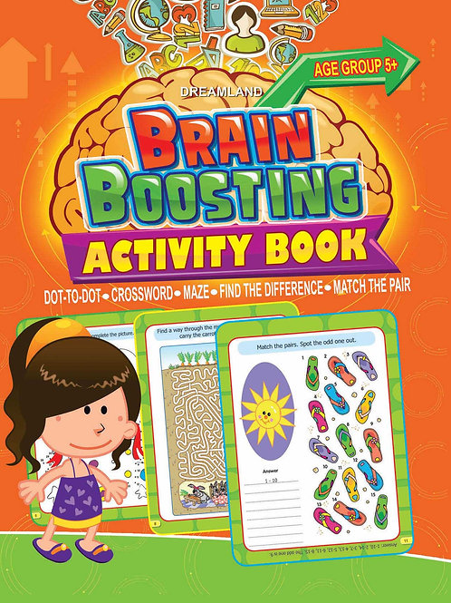 Brain Boosting Activity Book- Age 5+
