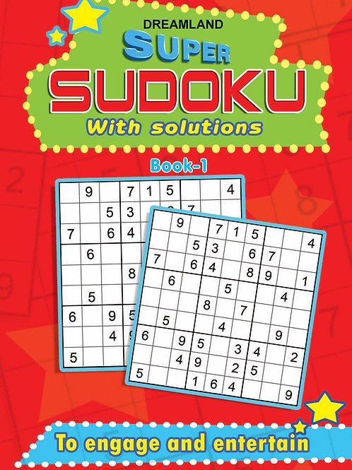 Super Sudoku With Solutions Book 1