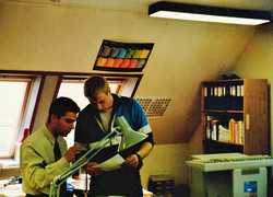 Στα εργαστήρια της Danplex 1990
