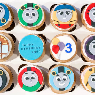 Thomas the Train Themed Cupcake Toppers