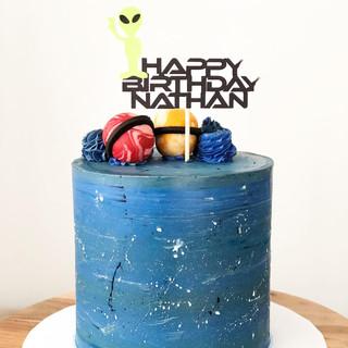 Alien Themed Birthday Cake