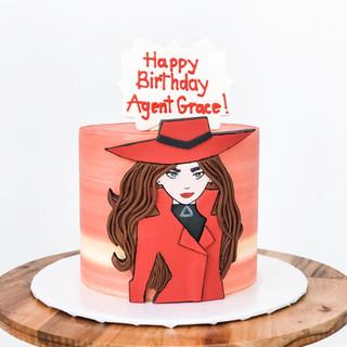 Carmen Sandiego Theme Cake
