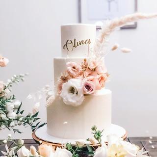 Boho Themed Birthday Cake