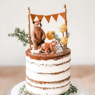 Bear Themed Birthday Cake