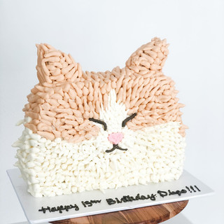 Carved Cat Cake