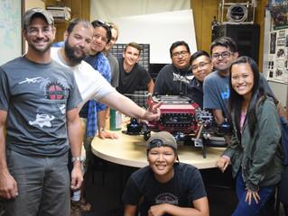 Visit from LA RoboSub team