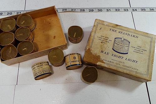 Box Of Standard Oil Wax Night Light