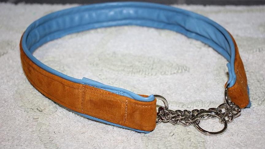 Leather Show Chain Martingale Collar