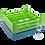 Dishwasher Rack | 25 comp | 3 extender | blue-green