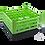 Dishwasher Rack | 25 comp | 4 extender | black-green