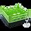 Dishwasher Rack | 25 comp | 3 extender | black-green