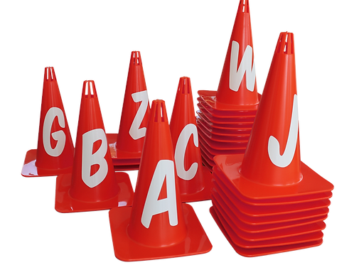 Marker Cone Set Red with letters