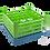 Dishwasher Rack | 25 comp | 4 extender | blue-green