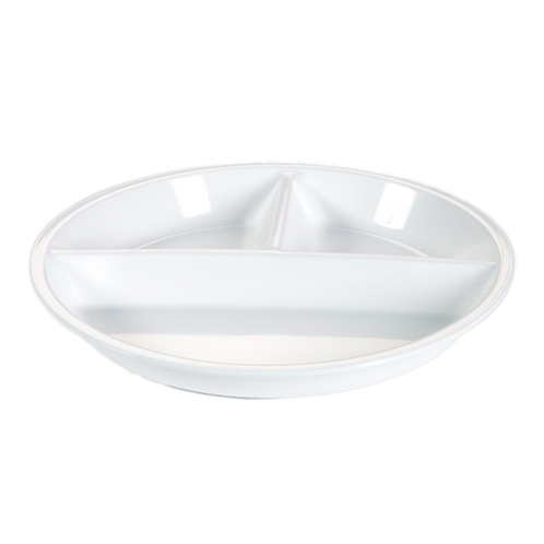 Meny Plate with 3 compartment | white