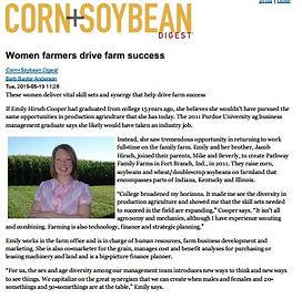 Pathway Family Farms Indiana corn soybean wheat farm Mike Jacob Emily Hirsch