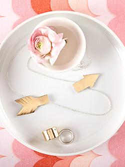 DIY leather arrow necklace
