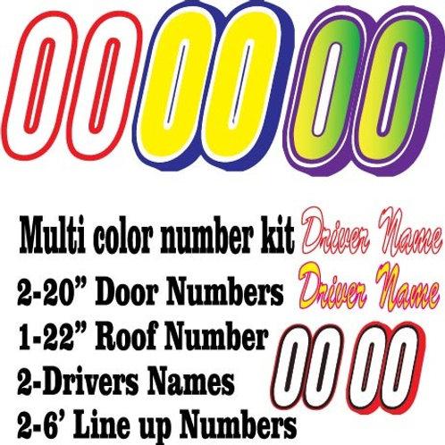 Multi color number kit