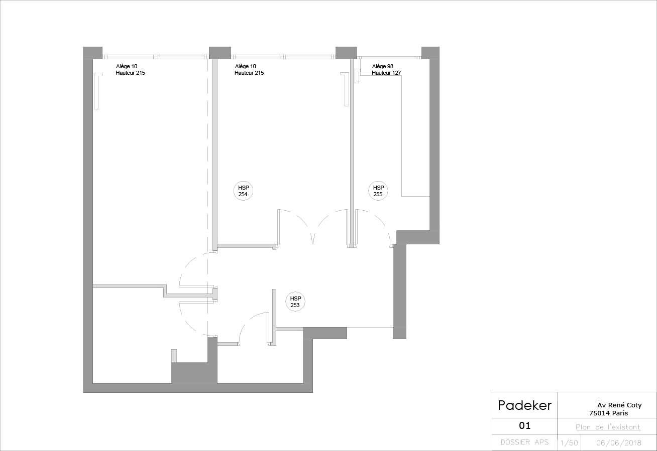 Projet Coty 180604-01 Plan de l'etat exi