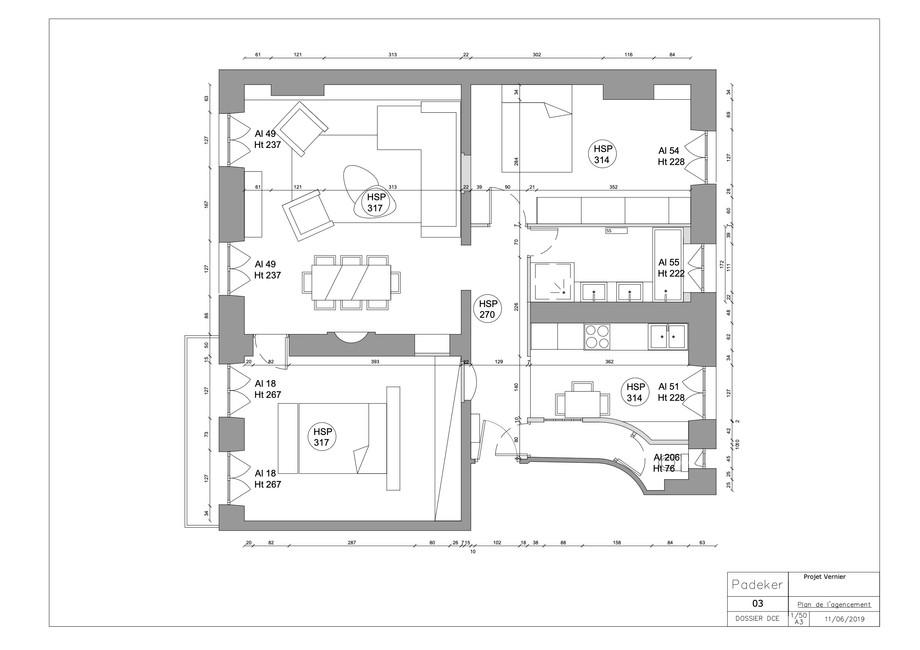 Projet Vernier 190611-03 Plan de l'agenc