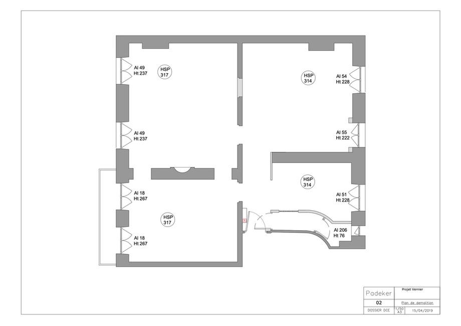 Projet Vernier 190611-02 Plan de demolit