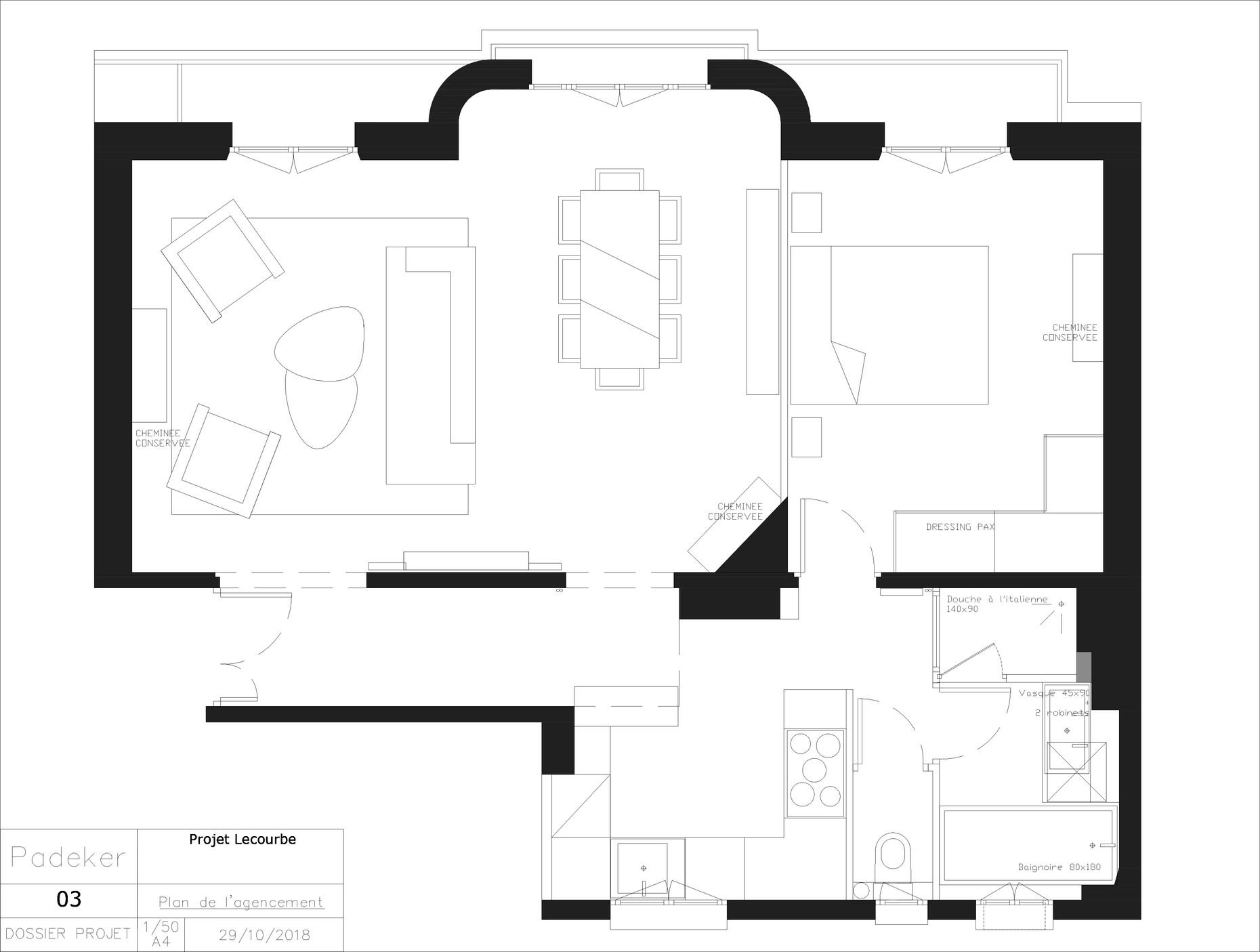 Projet Lecourbe 181029-03 Plan de l'agen