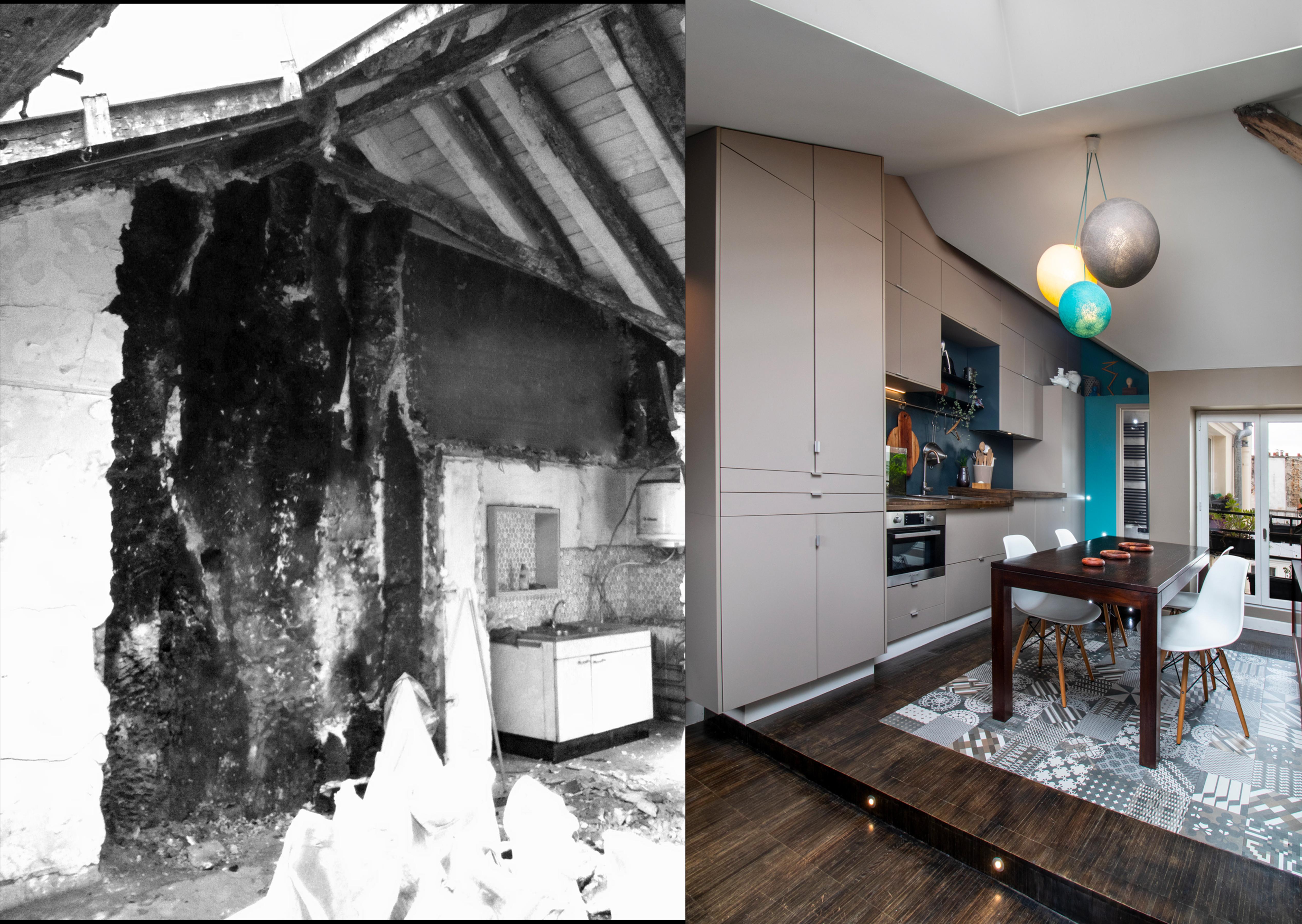 Projet Sous les toits - Avant/Après