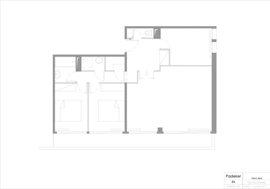 170925 Projet Roquette 01 Plan existant.