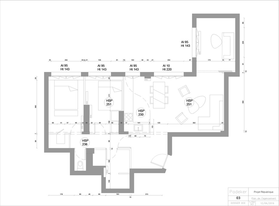Projet Dodart 190405-03 Plan de l'agence