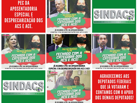 Sindacs Paraná e Fnaras na luta pela PEC da Aposentadoria Especial e Desprecarização dos ACS e ACE