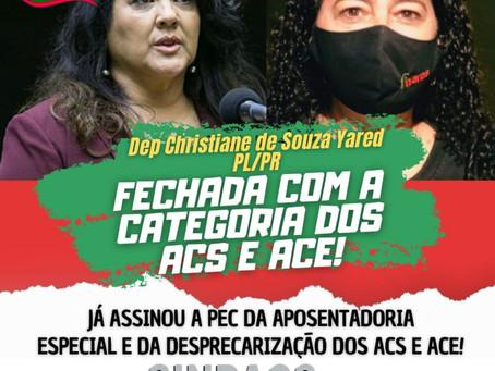Deputados Federais que já assinaram a PEC da Aposentadoria Especial e Desprecarização dos ACS e ACE