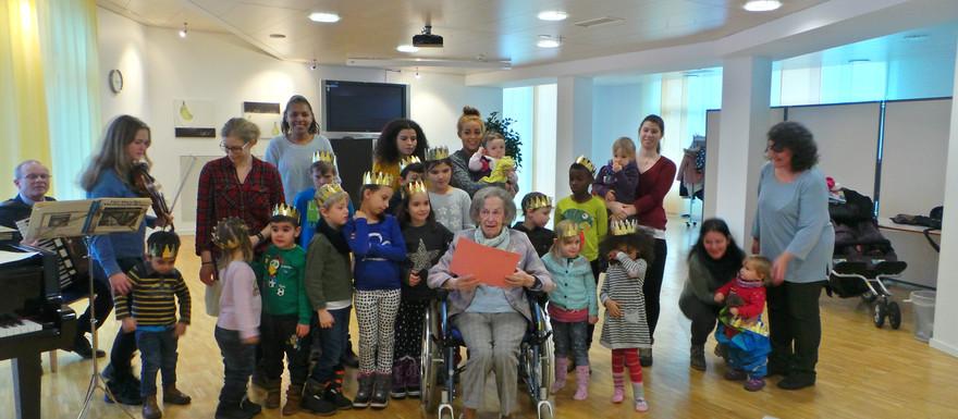 Besuch im APH Madlen am 6. Januar