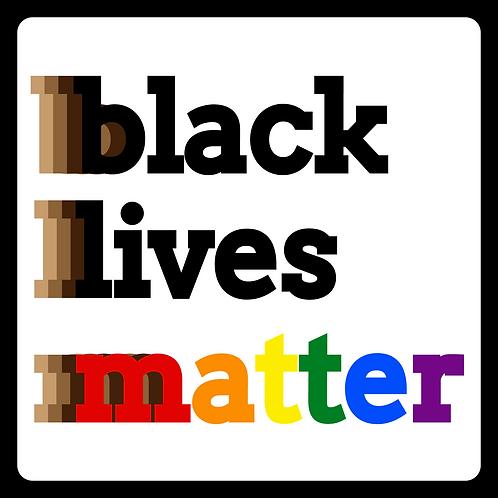 BLM Pride Words Sticker 3x3