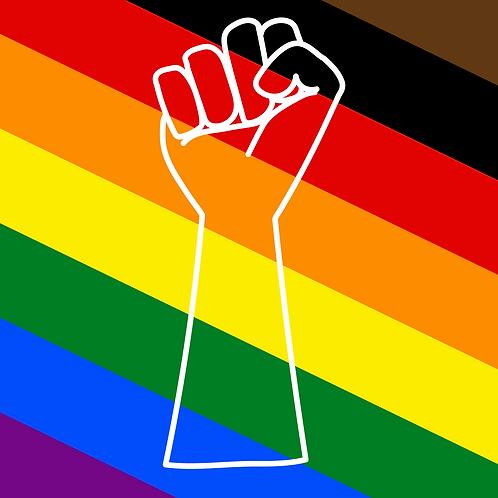 Pride Fist Sticker 3x3