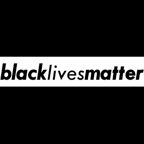 BLM Sophisticated Car Decal 1x7