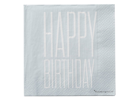 Bloomingville Happy Birthday Paper Napkins 20 pcs