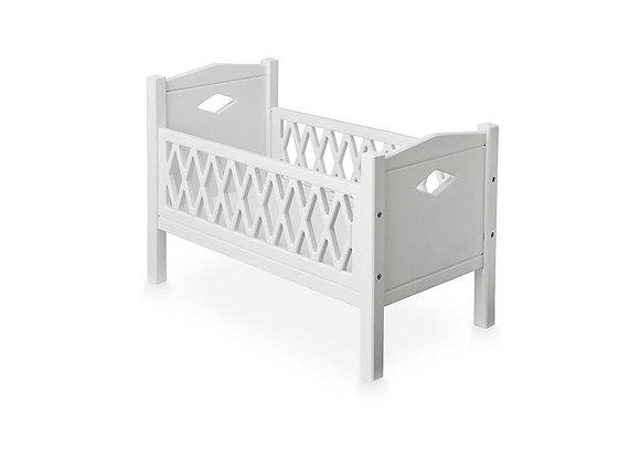 Harlequin White Doll's Bed