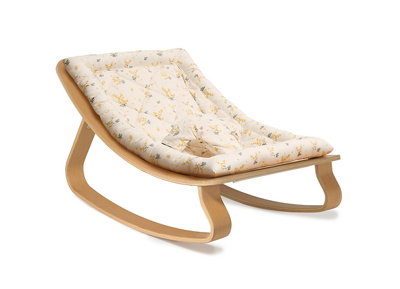Charlie Crane Rocker Levo in Beech with Garbo & Friends Mimosa cushion