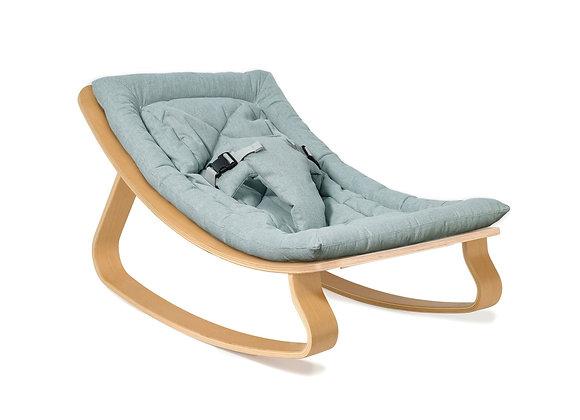 Charlie Crane Baby Rocker Levo with Aruba Blue cushion