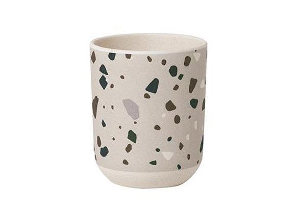 Ferm Living Terrazzo Bamboo Cup  - Grey