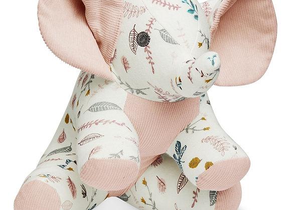 Cam Cam Copenhagen Elephant Soft Toy Pressed Leaves Rose