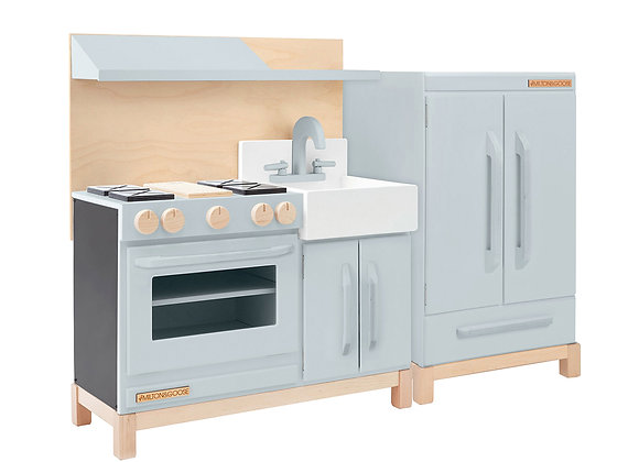 Milton & Goose Classic Play Kitchen and Fridge Set in Grey [Pre Order]